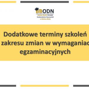 Obrazek aktualności Dodatkowe terminy szkoleń.