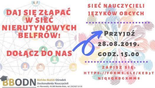 Obrazek newsa Zaproszenie dla nauczycieli języków obcych