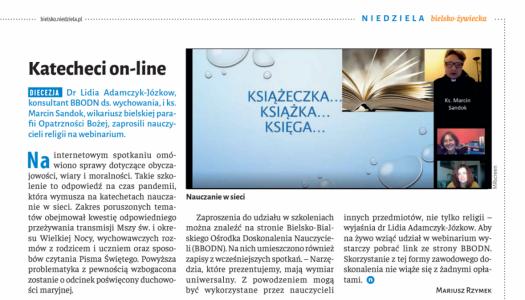 Obrazek newsa Katecheci on-line