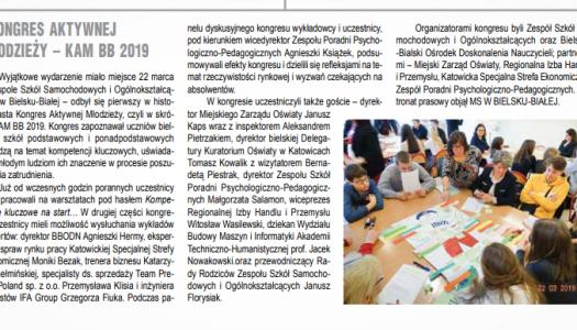 Obrazek newsa O nas w mediach: I Kongres Aktywnej Młodzieży KAM BB 2019