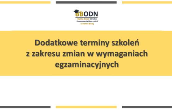 Obrazek newsa Dodatkowe terminy szkoleń